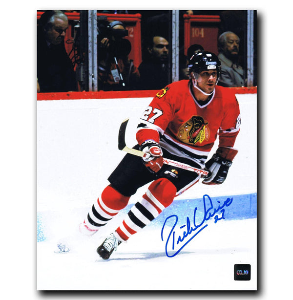 Rick Vaive Chicago Blackhawks Autographed 8x10 Photo Autographed Hockey 8x10 Photos CoJo Sport Collectables