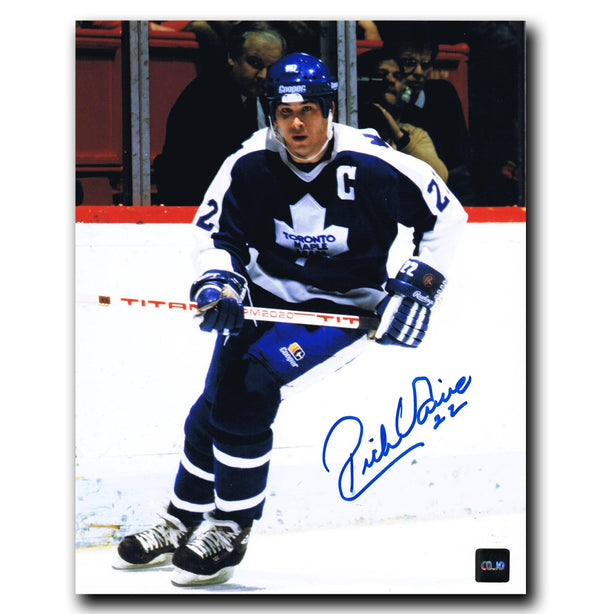 Rick Vaive Toronto Maple Leafs Autographed 8x10 Photo - CoJo Sport Collectables Inc.