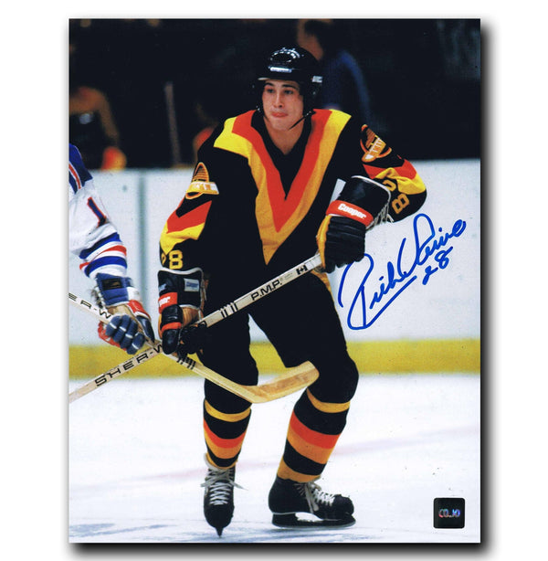 Rick Vaive Vancouver Canucks Autographed 8x10 Photo Autographed Hockey 8x10 Photos CoJo Sport Collectables