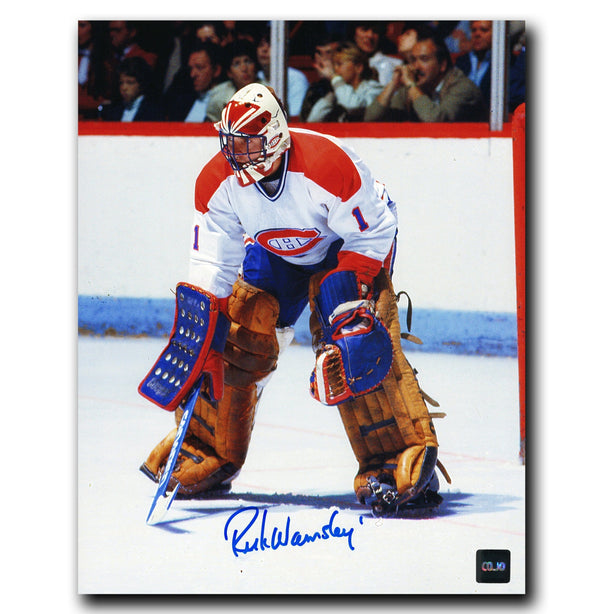 Rick Wamsley Montreal Canadiens Autographed 8x10 Photo