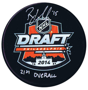 Robby Fabbri St. Louis Blues Autographed 2014 21st Overall Draft Puck - CoJo Sport Collectables Inc.
