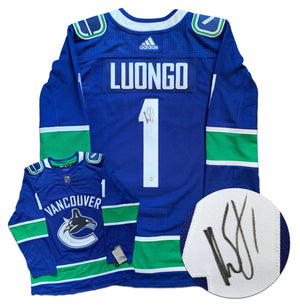 Roberto Luongo Vancouver Canucks Autographed Adidas Jersey