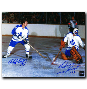 Rod Seiling and Doug Favell Toronto Maple Leafs Dual Autographed 8x10 Photo - CoJo Sport Collectables Inc.