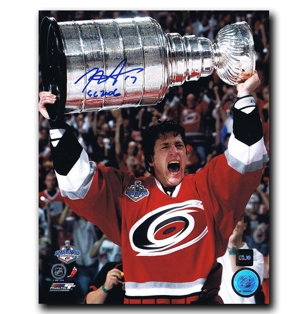 Rod Brind'Amour Carolina Hurricanes Autographed Stanley Cup 8x10 Photo Autographed Hockey 8x10 Photos CoJo Sport Collectables