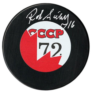 Rod Seiling Autographed 1972 Summit Series Puck - CoJo Sport Collectables Inc.