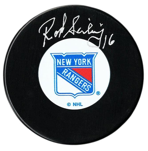 Rod Seiling Autographed New York Rangers Puck - CoJo Sport Collectables Inc.