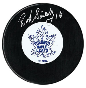 Rod Seiling Autographed Toronto Maple Leafs Puck - CoJo Sport Collectables Inc.