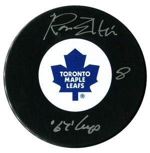 Ron Ellis Autographed Toronto Maple Leafs 67 Cup Puck - CoJo Sport Collectables Inc.