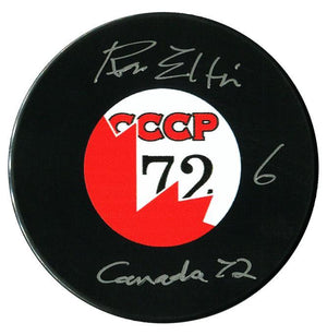 "Ron Ellis Team Canada Autographed ""Canada 72"" Puck - CoJo Sport Collectables Inc."