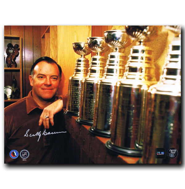Scotty Bowman Detroit Red Wings Autographed Stanley Cup 8x10 Photo - CoJo Sport Collectables Inc.