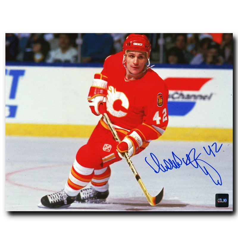 Sergei Makarov Calgary Flames Autographed Skating 8x10 Photo CoJo Sport Collectables Inc.