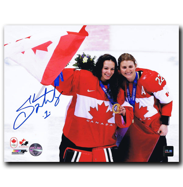 Shannon Szabados Autographed Team Canada 8x10 Photo Autographed Hockey 8x10 Photos CoJo Sport Collectables