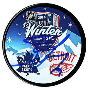Steve Yzerman Detroit Red Wings Autographed 2014 Winter Classic Puck