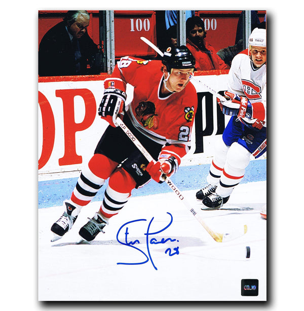 Steve Larmer Chicago Blackhawks Autographed 8x10 Photo - CoJo Sport Collectables Inc.