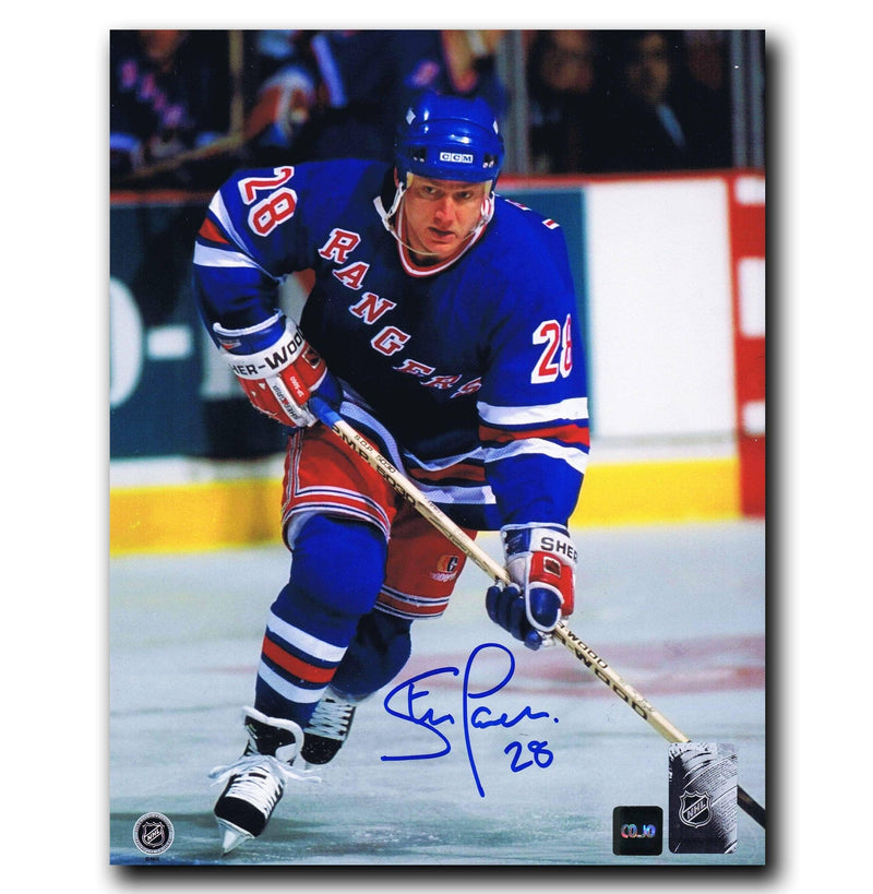 Steve Larmer New York Rangers Autographed 8x10 Photo CoJo Sport Collectables