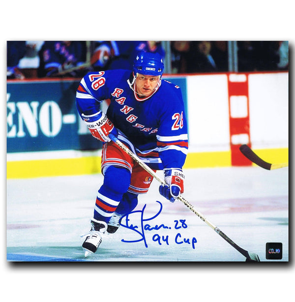 Steve Larmer New York Rangers Autographed 8x10 Photo - CoJo Sport Collectables Inc.