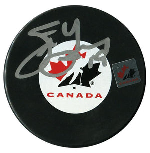 Steve Yzerman Autographed Team Canada Puck Autographed Hockey Pucks CoJo Sport Collectables