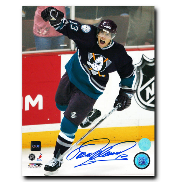 Teemu Selanne Anaheim Ducks Autographed Goal Celebration 8x10 Photo