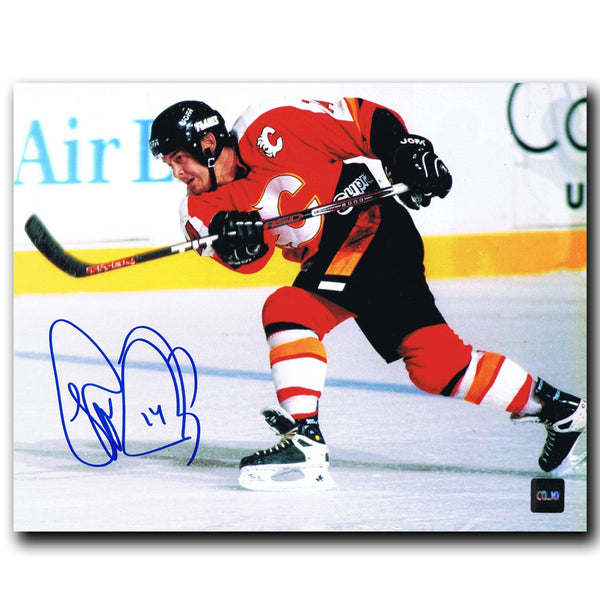 Theo Fleury Calgary Flames Autographed 8x10 Photo - CoJo Sport Collectables Inc.