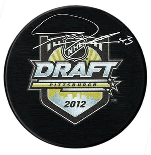 Tom Wilson Washington Capitals Autographed 2012 NHL Draft Puck - CoJo Sport Collectables Inc.