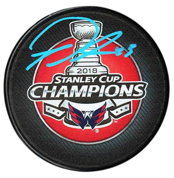 Tom Wilson Washington Capitals Autographed 2018 Stanley Cup Champions Puck - CoJo Sport Collectables Inc.
