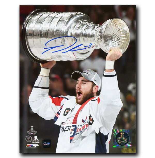Tom Wilson Washington Capitals Autographed Stanley Cup 8x10 Photo - CoJo Sport Collectables Inc.
