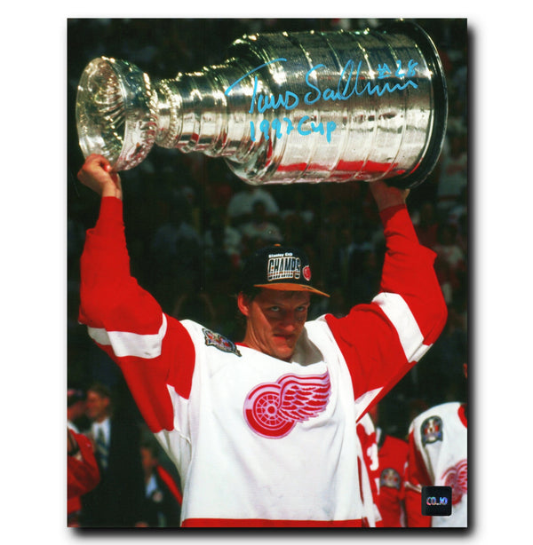 Tomas Sandstrom Detroit Red Wings Autographed Stanley Cup 8x10 Photo