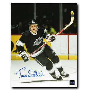 Tomas Sandstrom Los Angeles Kings Autographed Action 8x10 Photo