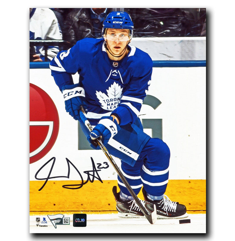 Travis Dermott Toronto Maple Leafs Autographed 8x10 Photo CoJo Sport Collectables Inc.