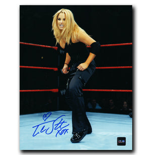 Trish Stratus WWE Autographed Ring 8x10 Photo - CoJo Sport Collectables Inc.