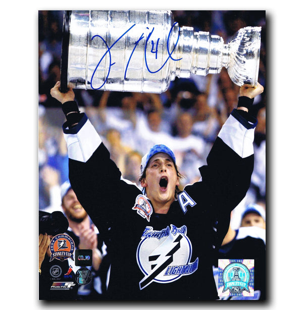 Vincent Lecavalier Tampa Bay Lightning Autographed 8x10 Stanley Cup Photo - CoJo Sport Collectables Inc.