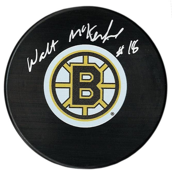 Walt McKechnie Autographed Boston Bruins Puck - CoJo Sport Collectables Inc.