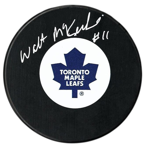 Walt McKechnie Autographed Toronto Maple Leafs Puck - CoJo Sport Collectables Inc.
