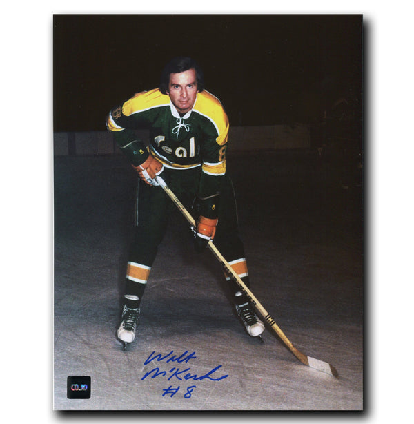 Walt McKechnie California Golden Seals Autographed 8x10 Photo - CoJo Sport Collectables Inc.