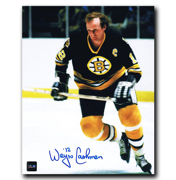 Wayne Cashman Boston Bruins Autographed 8x10 Photo Autographed Hockey 8x10 Photos CoJo Sport Collectables