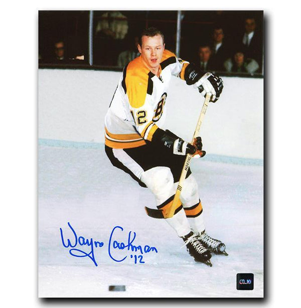 Wayne Cashman Boston Bruins Autographed 8x10 Photo - CoJo Sport Collectables Inc.