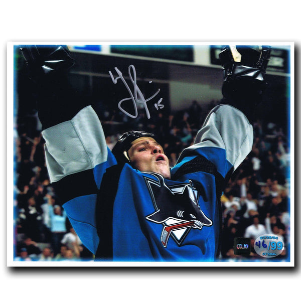 Wayne Primeau San Jose Sharks Autographed Limited Edition 8x10 Photo Autographed Hockey 8x10 Photos CoJo Sport Collectables