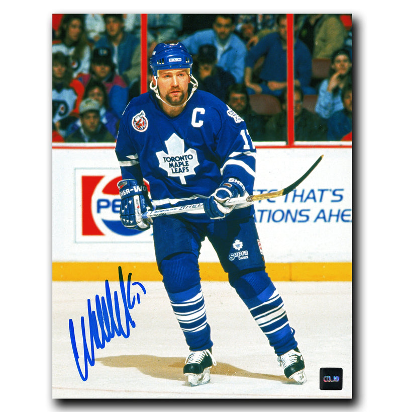 Wendel Clark Toronto Maple Leafs Autographed Spotlight 8x10 Photo CoJo Sport Collectables Inc.