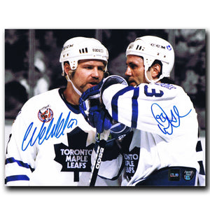 Wendel Clark and Doug Gilmour Toronto Maple Leafs Dual Autographed 8x10 Photo - CoJo Sport Collectables Inc.
