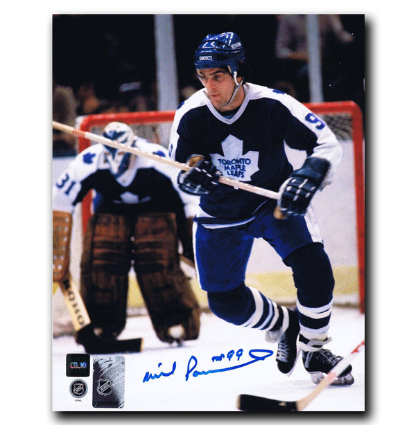 Wilf Paiement Toronto Maple Leafs Autographed 8x10 Photo - CoJo Sport Collectables Inc.