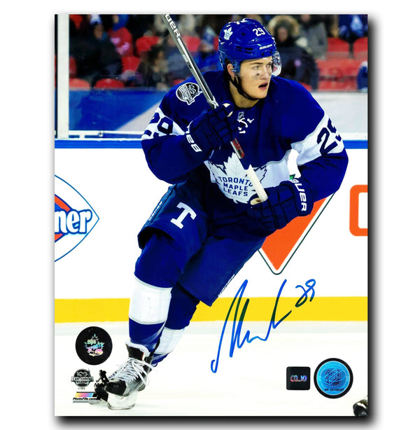 William Nylander Toronto Maple Leafs Autographed Centennial Classic 8x10 Photo