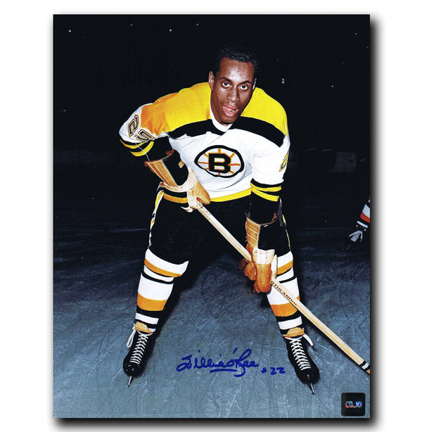 Willie O'Ree Boston Bruins Autographed 8x10 Photo Autographed Hockey 8x10 Photos CoJo Sport Collectables