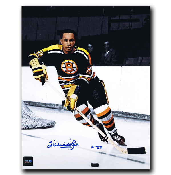 Willie O'Ree Boston Bruins Autographed 8x10 Photo - CoJo Sport Collectables Inc.