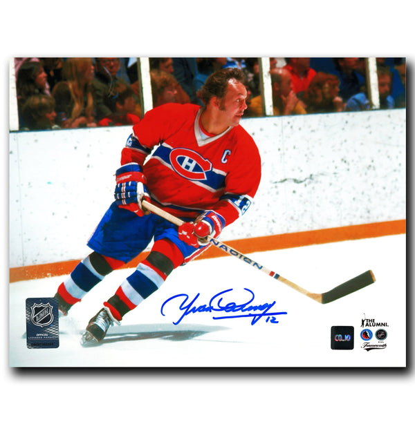 Yvan Cournoyer Montreal Canadiens Autographed 8x10 Photo - CoJo Sport Collectables Inc.