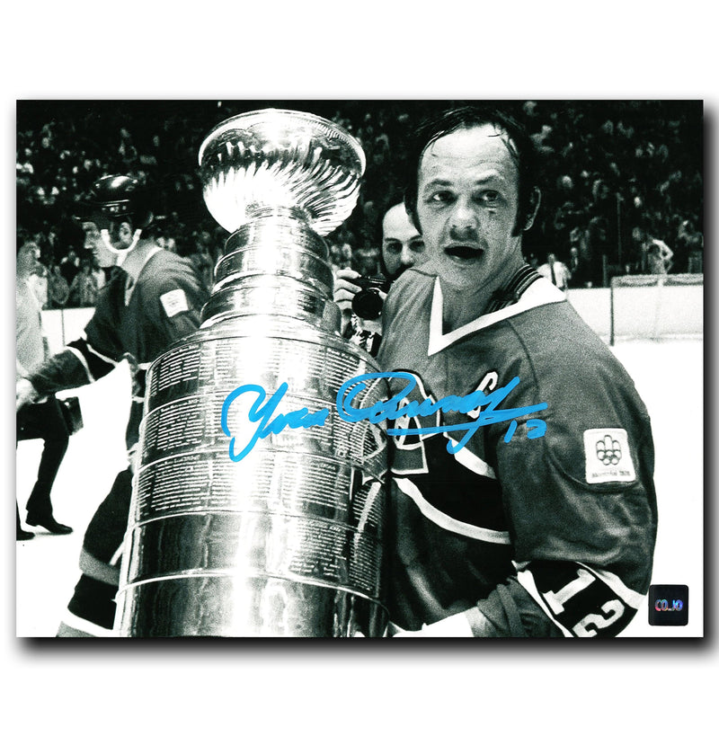 Yvan Cournoyer Montreal Canadiens Autographed Stanley Cup 8x10 Photo CoJo Sport Collectables Inc.