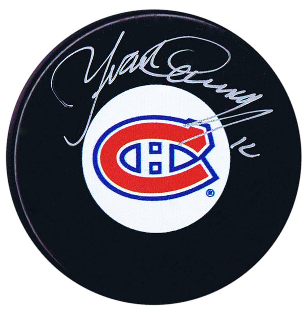 Yvan Cournoyer Autographed Montreal Canadiens Puck - CoJo Sport Collectables Inc.