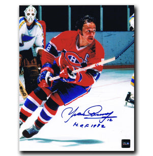 Yvan Cournoyer Montreal Canadiens Autographed 8x10 Photo Autographed Hockey 8x10 Photos CoJo Sport Collectables