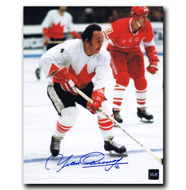 Yvan Cournoyer Team Canada Autographed 8x10 Photo Autographed Hockey 8x10 Photos CoJo Sport Collectables
