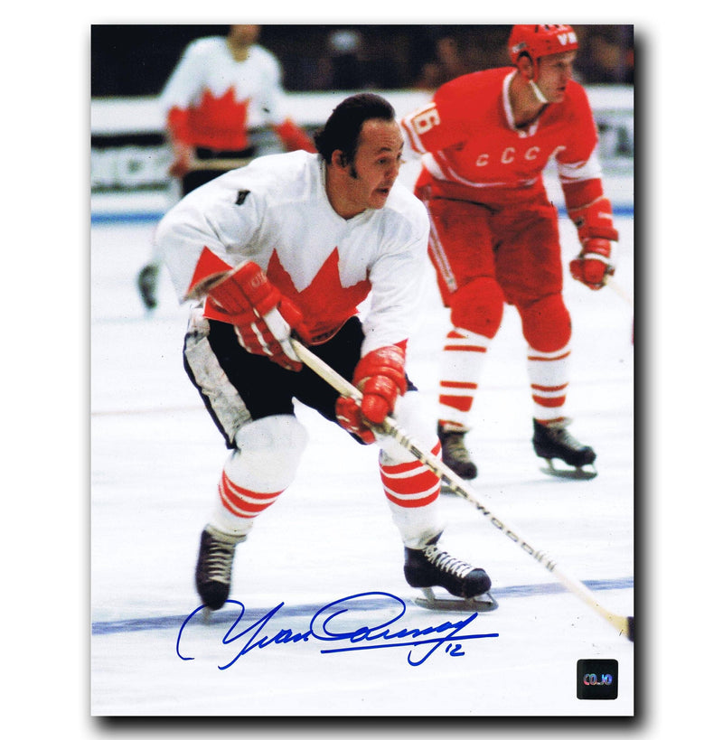 Yvan Cournoyer Team Canada Autographed 8x10 Photo CoJo Sport Collectables Inc.