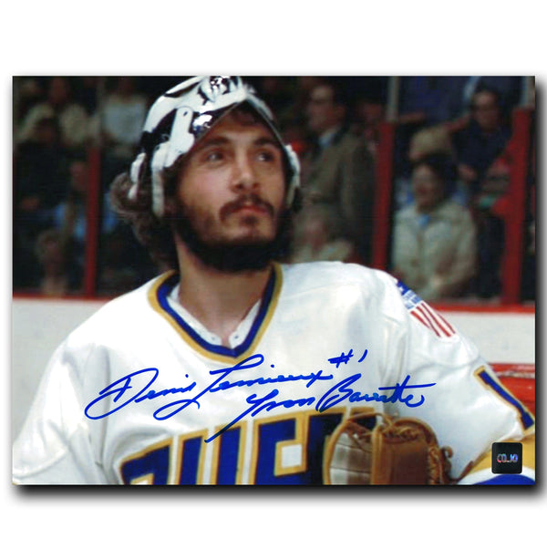 Yvon Barrette Denis Lemieux Charlestown Chiefs Autographed Slap Shot 8x10 Photo - CoJo Sport Collectables Inc.